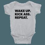 Wake Up, Kick Ass, RepeatGood Morning Assholes Onesie